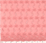 """Eyelet Embroidery Pink 5K006 Width 41/42"""""""