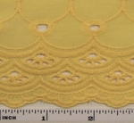 """Eyelet Embroidery Yellow 5K004 Width 41/42"""""""