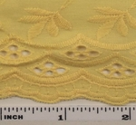 """Eyelet Embroidery Yellow 5K006 Width 41/42"""""""