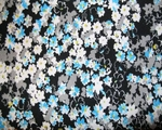 """ITY Print Floral Black/Turquoise Width 56/58"""""""