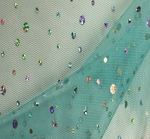 """Poly Mesh with Hologram Blue Width 58/60"""""""
