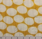 """Crinkled Voile Dot Print Yellow/White D#1D288 Width 48/50"""""""