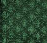 Spider Web Lace Black/Green Width 58/60""