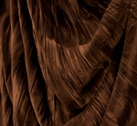 """Stretch Velvet Crushed Pleated Chocolate Width 48/50"""""""