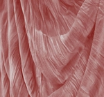 """Stretch Velvet Crushed Pleated Pink Width 48/50"""""""