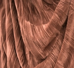 """Stretch Velvet Crushed Pleated Rose Width 48/50"""""""