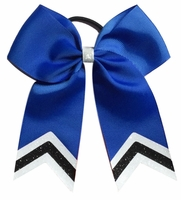 5.5 Inch Slate Blue with White and Black Glitter Tips