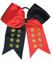 6.5 Inch Red Black with Gold Stars