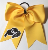 Custom Volleyball Bow with School Mascot