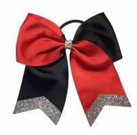 New 6.5 Inch Red and Black with Glitter Tip