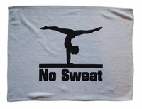 New Gymnastic Sweat Towel with No Sweat Logo
