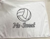 New Volleyball Towel with No Sweat logo