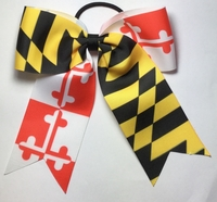 Small 5.5 Inch Maryland Flag Bows