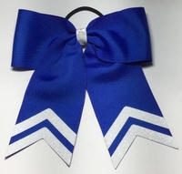 Small 5.5 Inch Royal Blue with White Glitter Tips