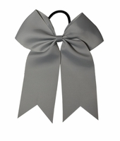Small 5.5 Inch Shell Grey Softball Bow