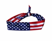 US Flag Tie Back Dri Fit HeadBand