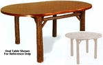 """Old Hickory 48"""" Old Faithful Dining Room Table - Round"""