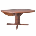 "60"" Drop Leaf Pedestal Table"