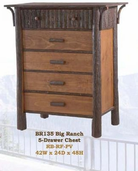 Old Hickory Big Ranch 5-Drawer Chest