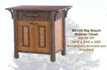 Old Hickory Big Ranch Bedside Chest