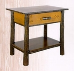 Old Hickory Classic Nightstand with Solid Shelf