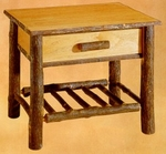 Old Hickory Classic Nightstand with Spoke Shelf -22""