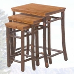 Old Hickory Nest of Tables No. 308