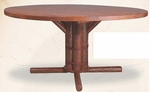 """Old Hickory 36"""" Pedestal Table"""