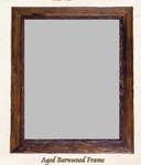 Old Hickory Aged Barnwood or Pioneer Barnwood Frame/Mirror