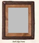 Old Hickory Bark Edge Frame/Mirror