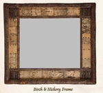 Old Hickory Birch and Hickory Frame Mirror
