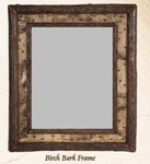 Old Hickory Birch Bark Frame/Mirror