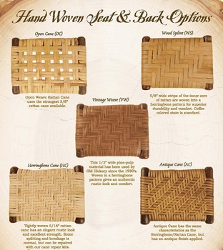 Old Hickory Cane and Weave