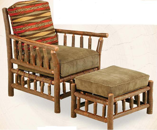 Old Hickory Grove Park Lounge Chair With Ottoman - Old hickory furniture