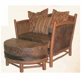 Brilliant Old Hickory Hill Country Chair With Ottoman Machost Co Dining Chair Design Ideas Machostcouk
