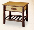 Old Hickory Nightstand with Spoke Shelf -28""