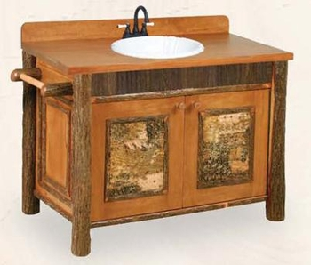 Old Hickory Old Faithful Vanity with Birch Accents