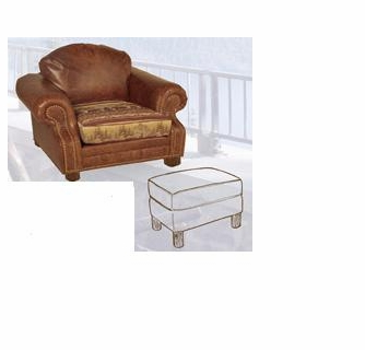 Fine Old Hickory Roosevelt Chair With Ottoman Machost Co Dining Chair Design Ideas Machostcouk