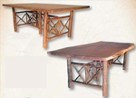 """Old Hickory 118"""" Timberline Trestle Table"""