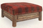 Old Hickory Woodland Ottoman