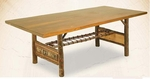 "Old Hickory 96"" Woodland Trestle Table"