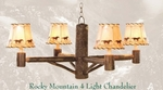 Rocky Mountain 4 Light Chandelier