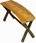 Old Hickory Sun River Curved Outdoor Bench