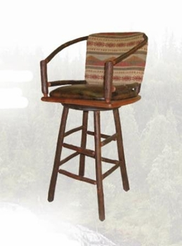 Old Hickory Two Hoop Swivel Barstool