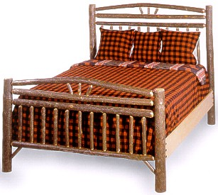 Old Hickory Wagon Wheel Headboard Only