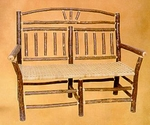 Old Hickory Wagon Wheel Settee
