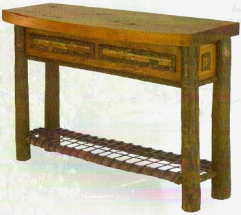 Old Hickory Woodland Bowfront Console Table