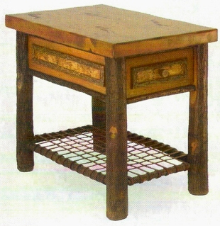 Old Hickory Woodland End Table w/ Drawer
