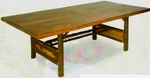 "Old Hickory 84"" Woodland Trestle Table"