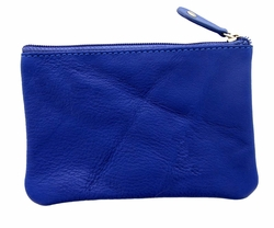 Genuine Leather Coin Purse Royal Blue